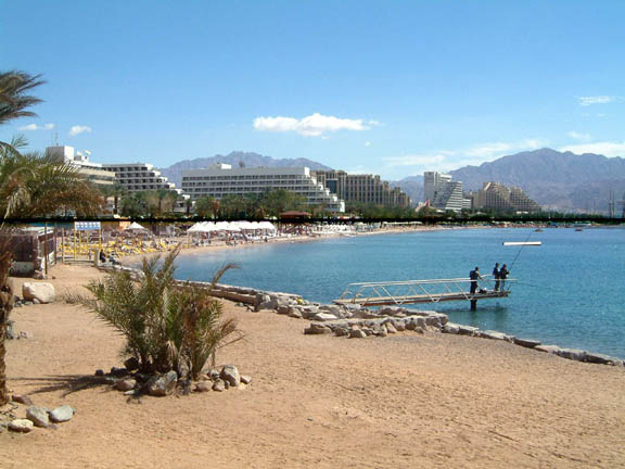 Eilat from the southern beach